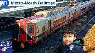 Johny's MTA Subway Train Ride On Metro North Railroad From Grand Central NYC To New Rochelle