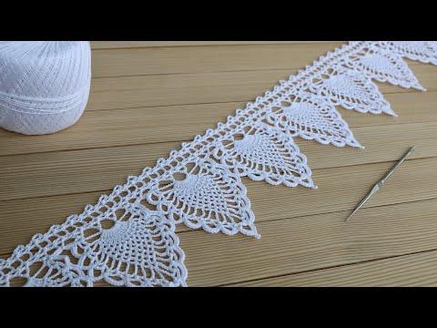 Схемы вязания филейной каймы крючком