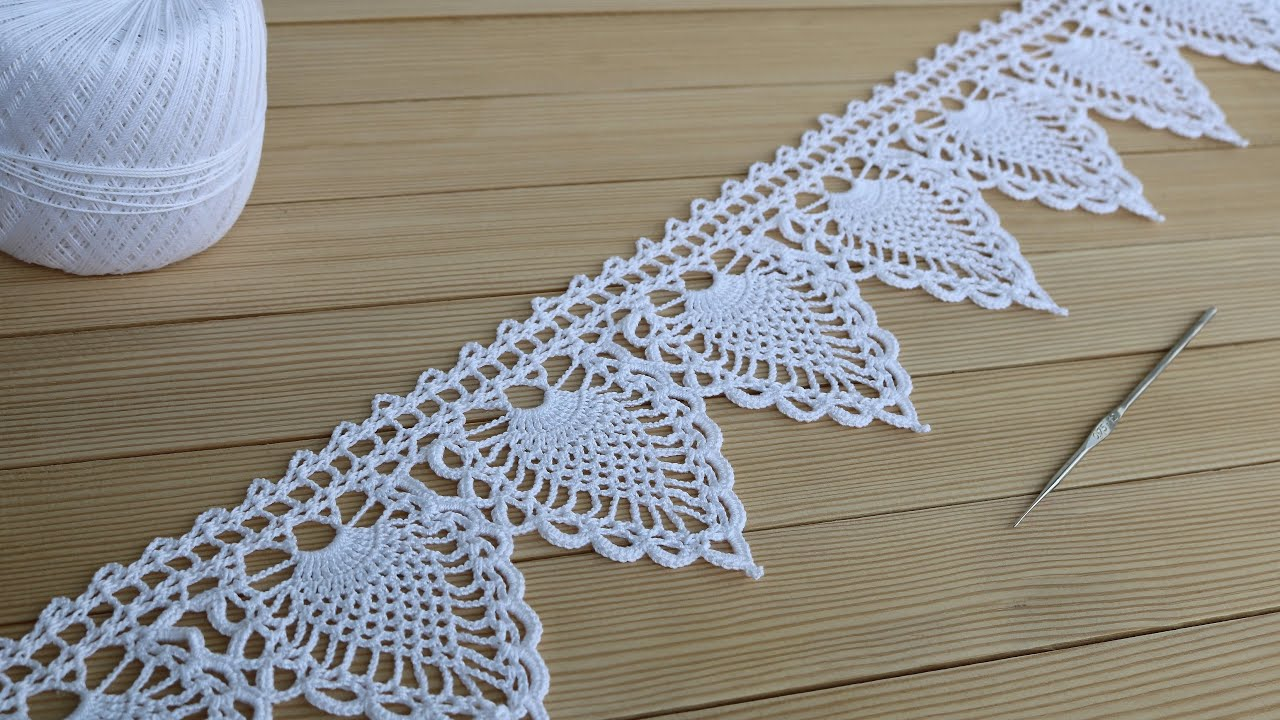 ЛЕНТОЧНОЕ КРУЖЕВО вязание крючком КАЙМА схема узора МАСТЕР-КЛАСС How to Crochet Lace Tape Ribbon