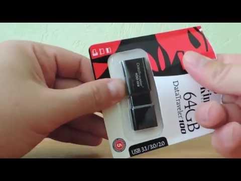 Флешка Kingston 64GB DT100G3 А где USB 3.0? Скорость записи 10 Mb)