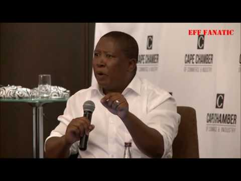 EFF CiC Julius Malema answers questions of land expropriation at Cape Chamber of Commerce