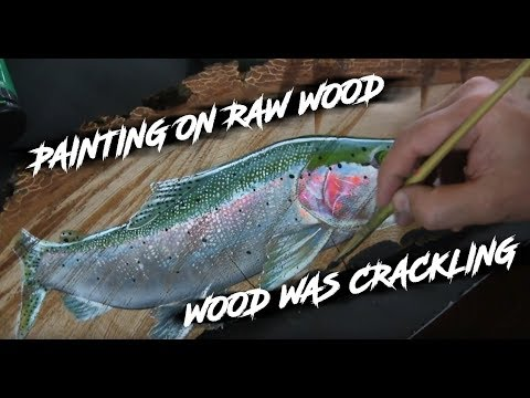 #timelapse #painting Acrylic Painting Ideas | createing a painting on raw wood |