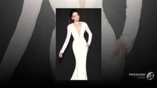 Красивое свадебное платье белого цвета