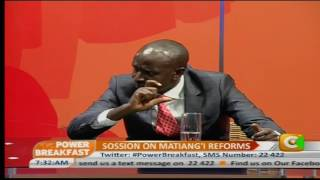 Power Breakfast: Sossion on Matiang'i reforms