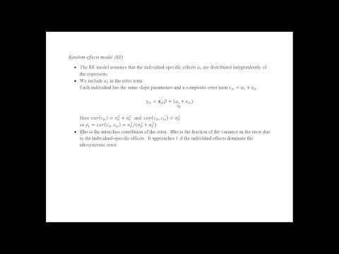 Econometrics - Panel Data Models