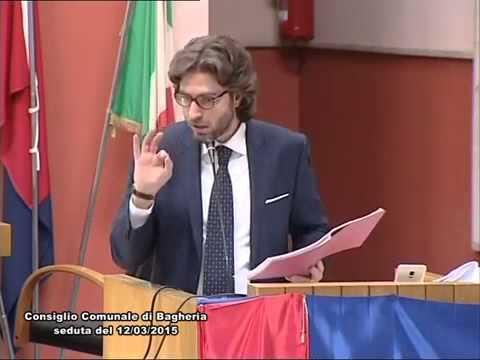Filippo Tripoli intervento al Consiglio Comunale di Bagheria del 12 Marzo 2015