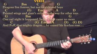 Puff the Magic Dragon - Strum Guitar Cover Lesson in G with Chords/Lyrics