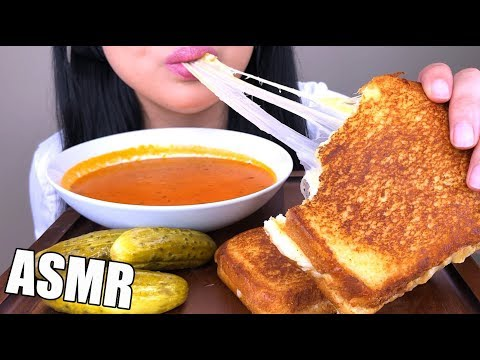 ASMR BEST GRILLED CHEESE SANDWICH + SOUP (NO TALKING) | ASMR Phan