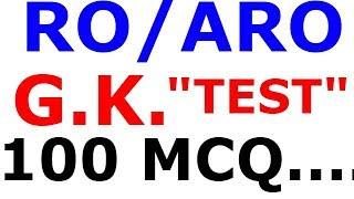 RO /ARO  //  TEST - 02 //  GK  (100 ) MCQ