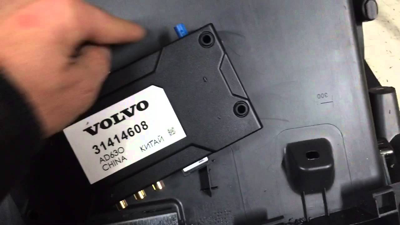 How to install senses module in glove box Volvo XC60