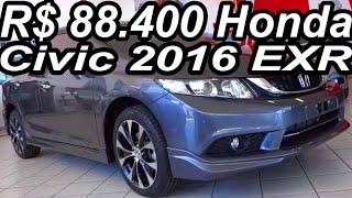 SHOWROOM R$ 88.400 Honda Civic 2016 EXR AT5 2.0 i-VTEC FlexOne 155 cv