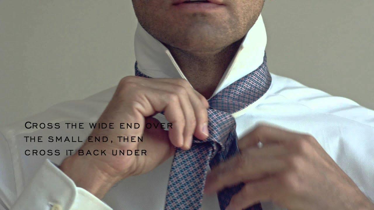 How To Tie A Fourinhand Tie
