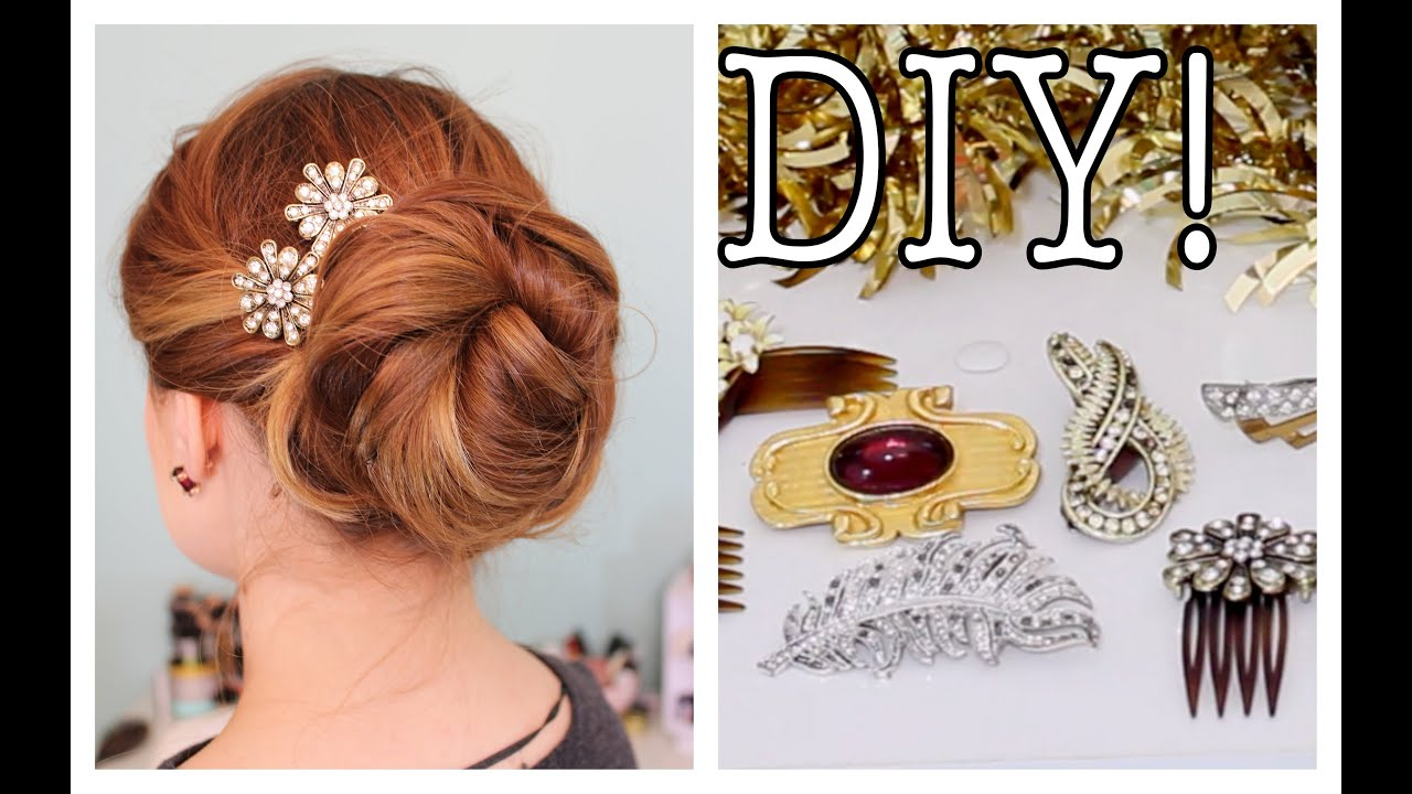 Easy DIY Sparkly  Statement Hair Accessories  YouTube