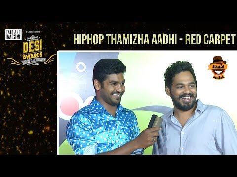 Hiphop Thamizha Aadhi on Red Carpet Live | #DesiAwards2017 | TrendLoud