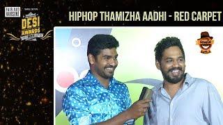 Hiphop Thamizha Aadhi on Red Carpet Live | #DesiAwards2017 | TrendLoud - Stafaband