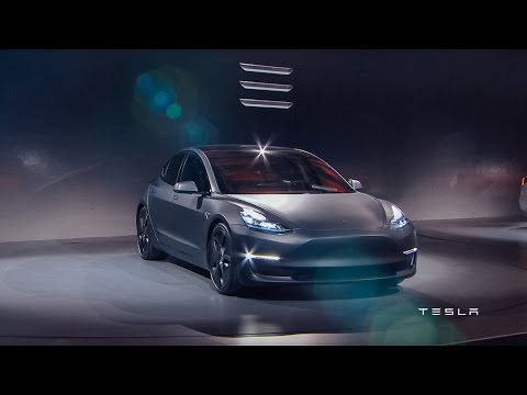 Tesla Model 3 Unveil - Live Broadcast Event - Elon Musk Shows New Electric Car