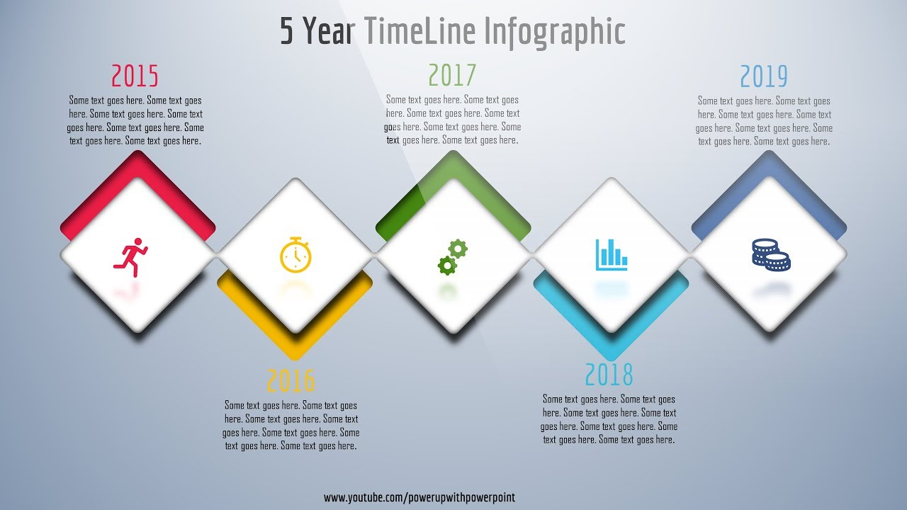 8 create 5 year timeline infographic  powerpoint