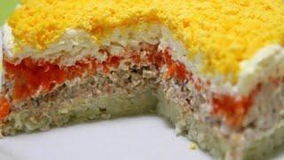 Салат мимоза Рецепт Классические салаты How to make a salad