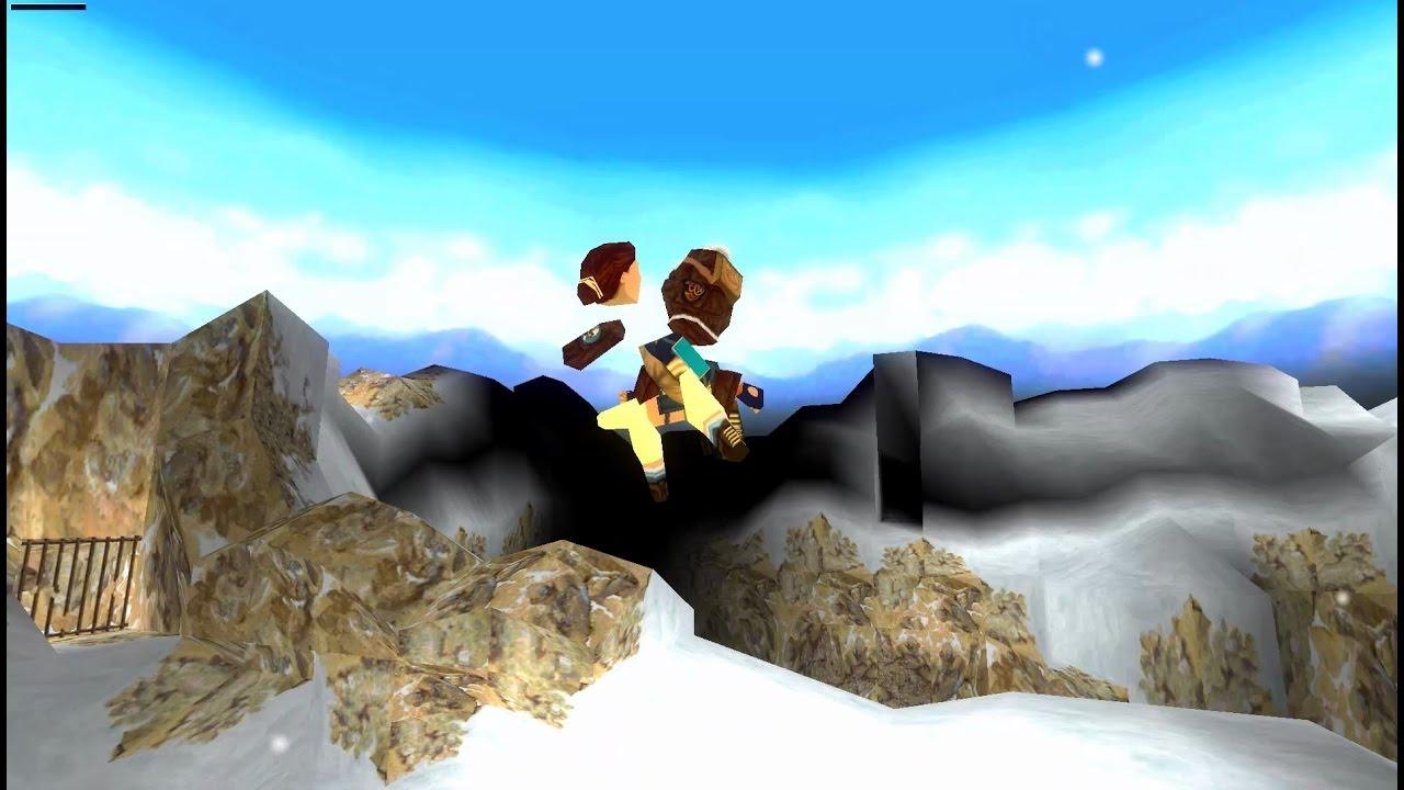 Lara exploding! Tomb Raider 2 wrong cheat code. - YouTube