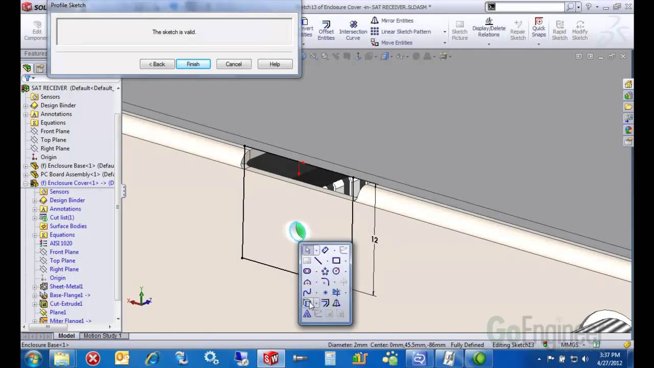 Solidworks Complex Sheet Metal Ege Flanges Youtube