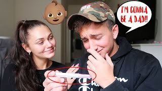 Leaving Out A POSITIVE PREGNANCY TEST *Cute Reaction* | Montana & Ryan