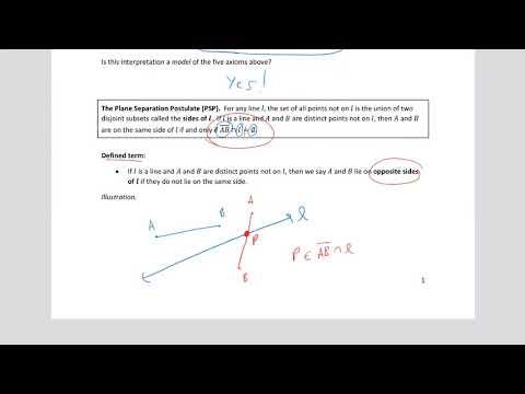 MATH 340 Geometry Chapter 3 Part D
