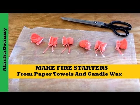 Make Fire Starters From Paper Towels And Candle Wax- DIY Prepping Survival Gear