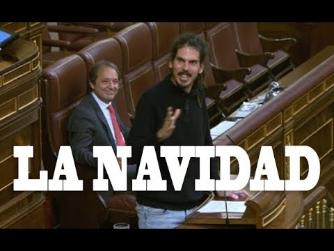 Alberto Rodríguez, de Podemos, despide con elogios a un diputado del PP