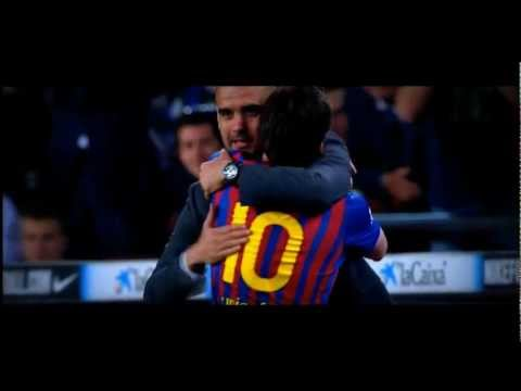 Messi Hugs Pep Guardiola after scoring 4th goal against Espanyolá´´á´°- I am The Champion