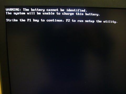 Dell Warning The battery cannot be identified The system will be unable to charge this fix error