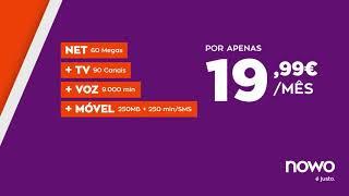 NOWO |  NET+TV+VOZ+MÓVEL | Saldos todos fazem