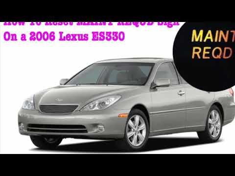 How to reset maintenance Required Sign on a 2006 Lexus ES330 or Most Toyota Camry - Easy way