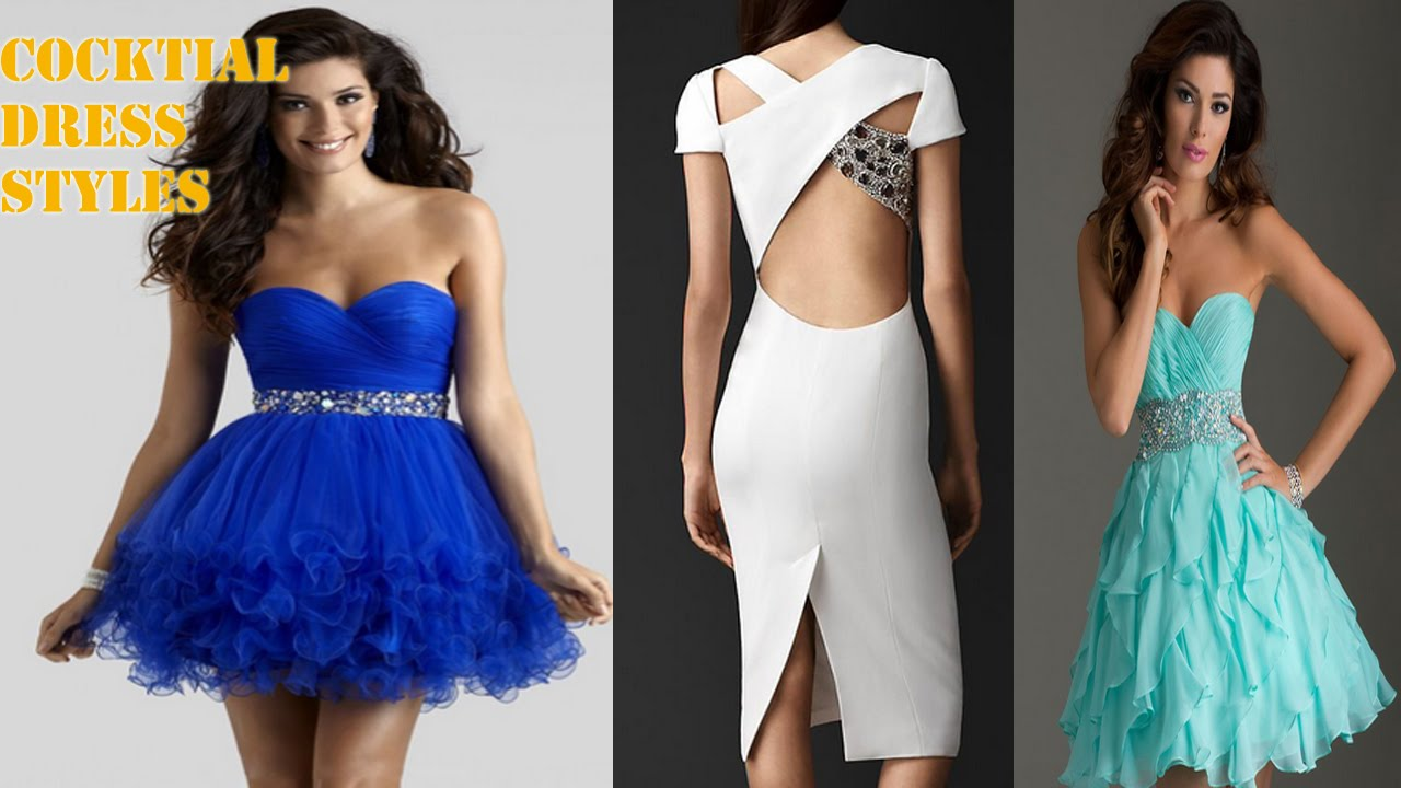 Beautiful Cocktail Dress Styles - YouTube
