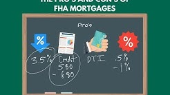 The Pro's and Con's of FHA Mortgages - 5 Minute Mortgage Class - Episode 8