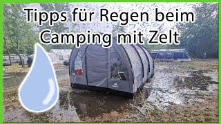 Tipps für Regen bęim Camping mit Zelt | Hacks | Gadgets | zelten mit Kind