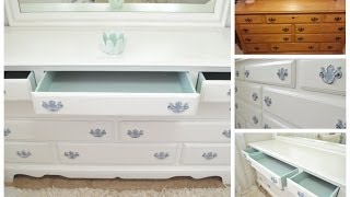 DIY Dresser Makeover!! I found this dresser on Craigslist and gave it a fresh new look! For more info on this project, visit my dresser
