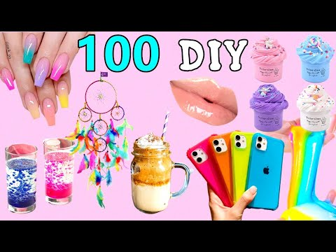 100 DIY – EASY LIFE HACKS AND DIY PROJECTS YOU CAN DO IN 5 MINUTES – ROOM DECOR, PHONE CASE and more