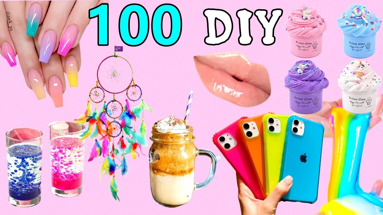 Download 100 DIY - EASY LIFE HACKS AND DIY PROJECTS YOU CAN DO IN 5 MINUTES - ROOM DECOR, PHONE CASE and more