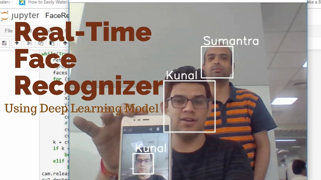 Face recognition application using deep learning model