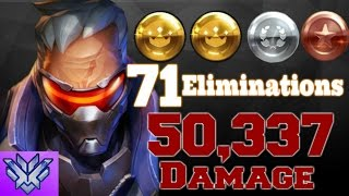 Grand Master Overwatch Carry w/ Soldier 76 (50,337 Damage-71 Elims)