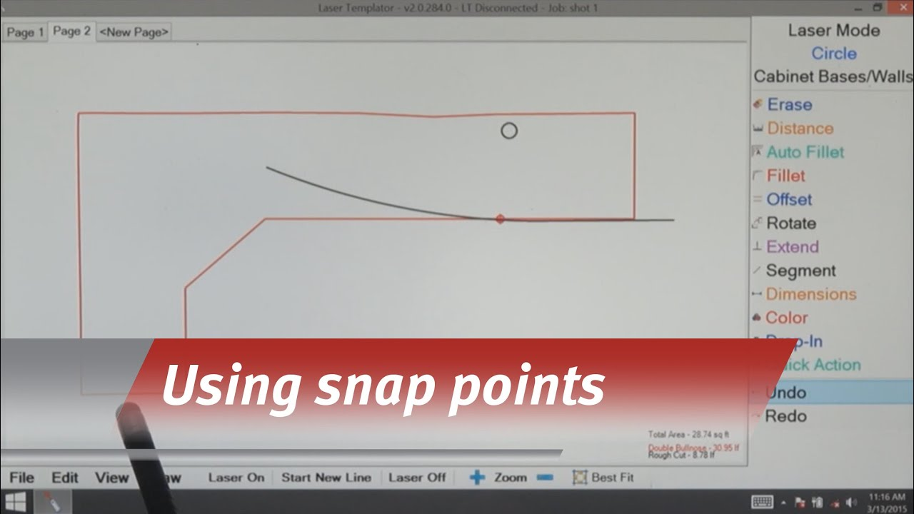 Laser Templator - Using Snap Points - YouTube
