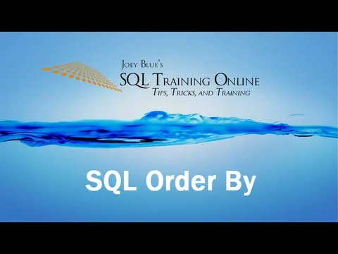 Sql Training Online - Sql Order By - Sorting