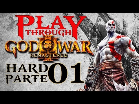 God of War 3 Remasterizado PS4 Hard Parte 1 Cavalo Safado!