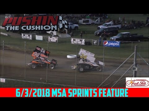Angell Park Speedway - 6/3/18 - MSA Sprints - Feature