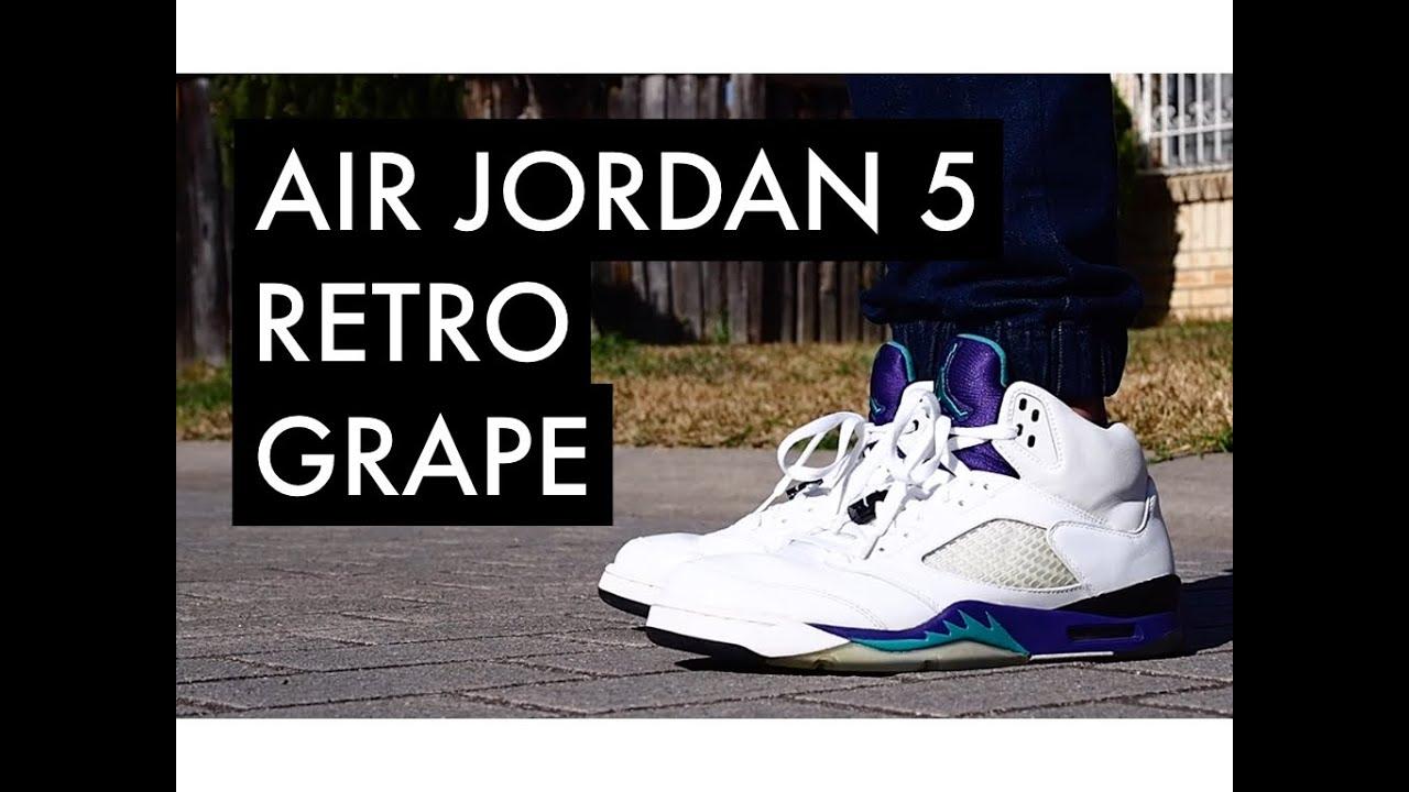 598a872e5c1426 AIR JORDAN 5 Retro Grape