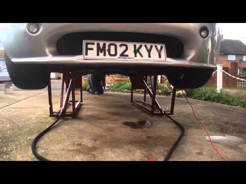 Homemade hydraulic car ramp lift tvr 2