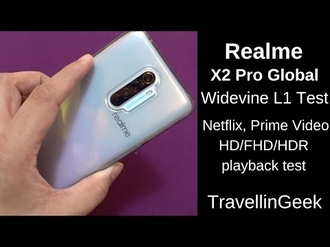 Realme X2 Pro Widevine L1 Test, Netflix, Amazon Prime Video HD/FHD/HDR Playback Test