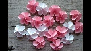 як зробити прості квіти з паперу своїми руками