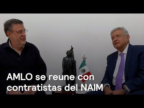 AMLO se reúne con contratistas del NAIM en Texcoco - En Punto con Denise Maerker