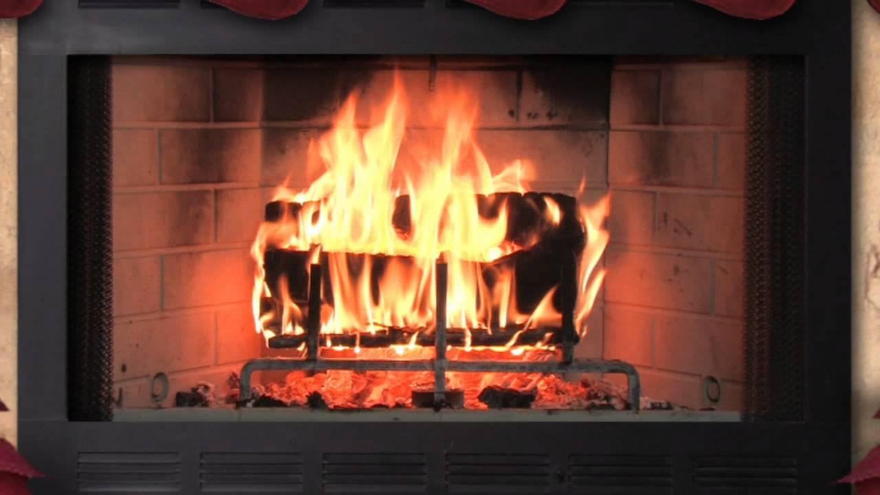 christmas wood burning fireplace youtube